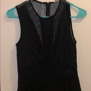 Express Dresses - Black lace romper with sheer lace back